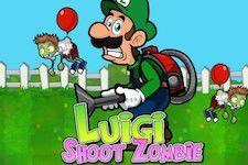 Jeu Luigi shoot les zombies