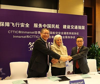 Inmarsat signs CTTIC and ADCC as China distribution partners for aviation safety and operational services
