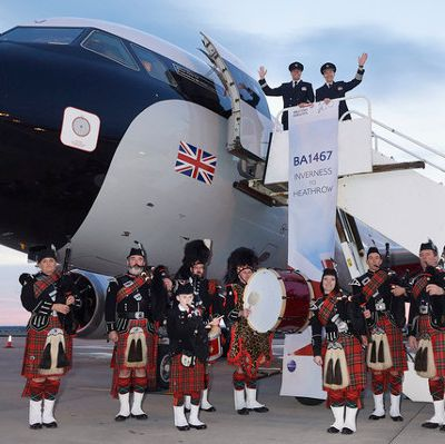 Wakey Wakey; British Airways' first early morning flight in 20 years takes off from Inverness