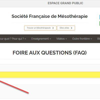 Extraits des FAQ sur la Mesotherapie : lorsque Mesotherapeute rime avec découverte
