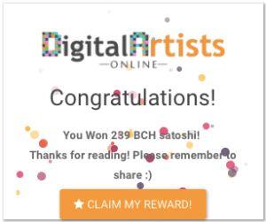 Digital Artists Online (AirDrips): Gana Bitcoin Cash GRATIS y SIN límite - Parte 2