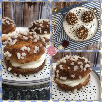 Chouquettes garnies de chantilly