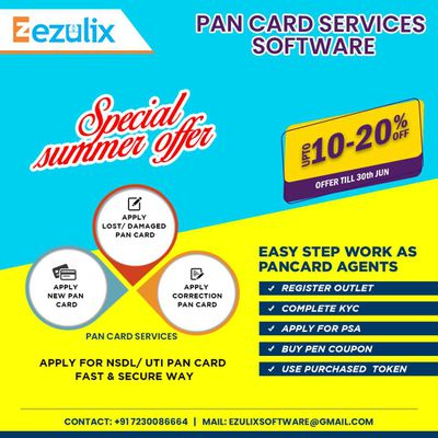 Start Pan Card Service at Your Shop and Save 20% Today
