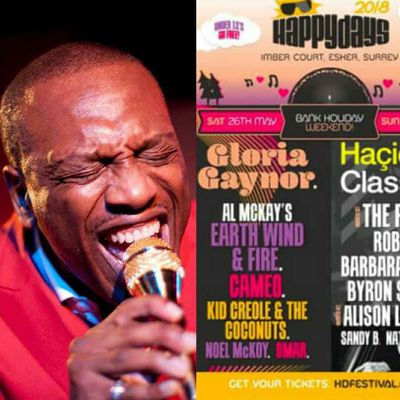 Noel McKoy at Happy Days Festival this Saturday 26th May 2018