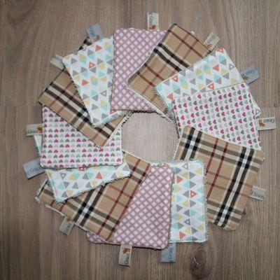Lingettes lavables éponge pour soin bébé ou démaquillage