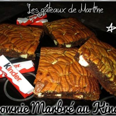 Brownie marbré au kinder