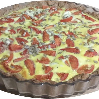 Quiche tomate, fromage ail & fines herbes - IG bas
