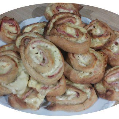 Spirales briochées jambon & fromage à raclette