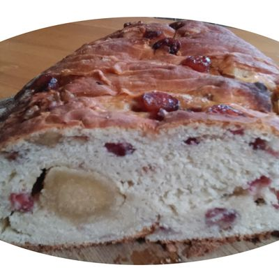 Stollen aux cranberries