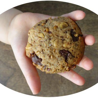 Cookies kasha, chocolat noir & cacahuète - IG Bas