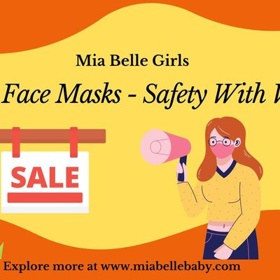 Latest Collection of Mia Belle Girls Face Masks Safety With Vogue