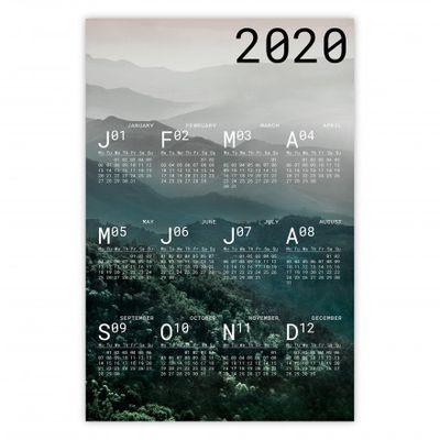 Jahreskalender 2020: einen guten dekorativen Rutsch ins neue Jahr!