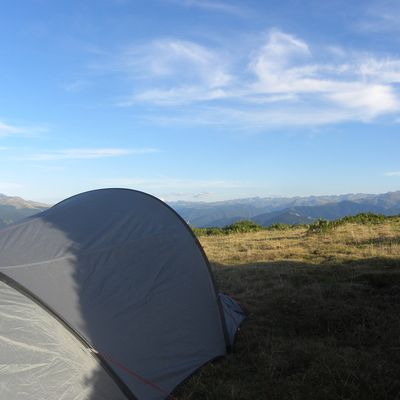 One night in a tent