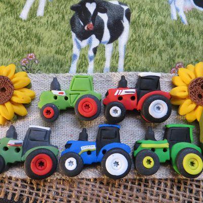 Boutons Cavertine tracteurs