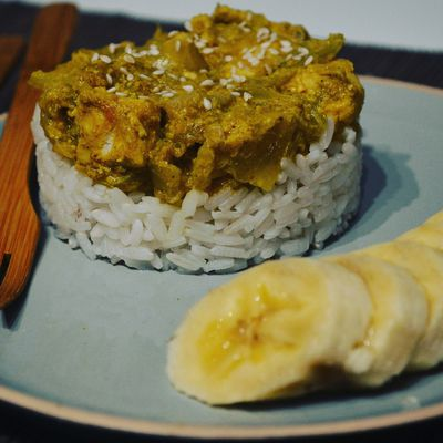Poulet curry banane