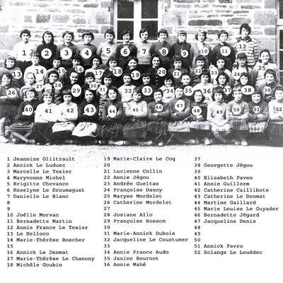 Cours Notre-Dame Classe de sixième classique 1959