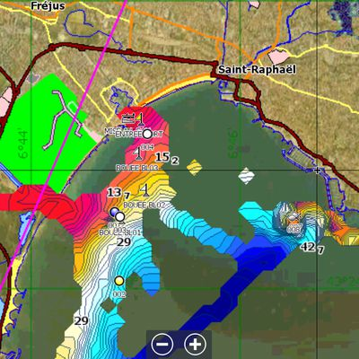 Fond de carte satellite pour les sondeurs Lowrance
