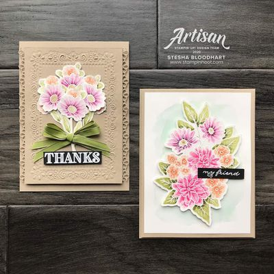 Carte florale stampin up