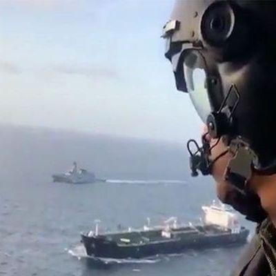 """Le pétrolier iranien """"Fortune"""" navigue sous haute escorte militaire dans les eaux du Venezuela"""