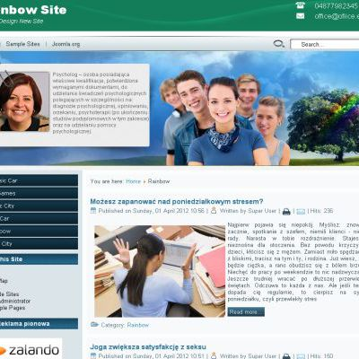 Blue Green Family Free Joomla Theme Template