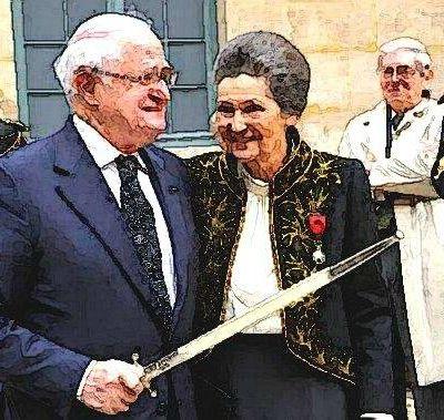 Les époux Veil honorés au Panthéon