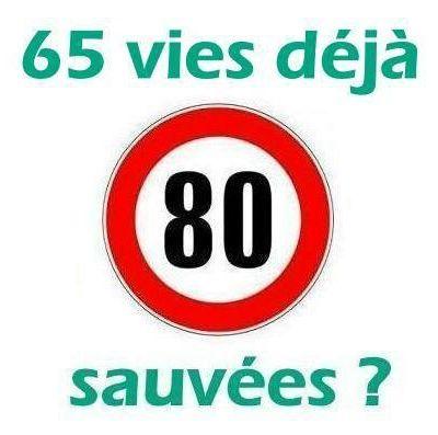 80 km/h : 65 vies humaines déjà sauvées ?