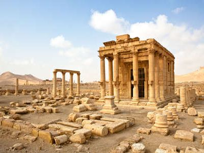 Tadmor, Palmyra in the Syrian Desert, was inhabited during the Bronze Age