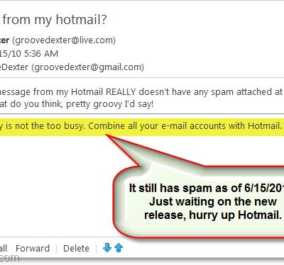 Hotmail Removing Ridiculous Ads From The Bottom Of Emails