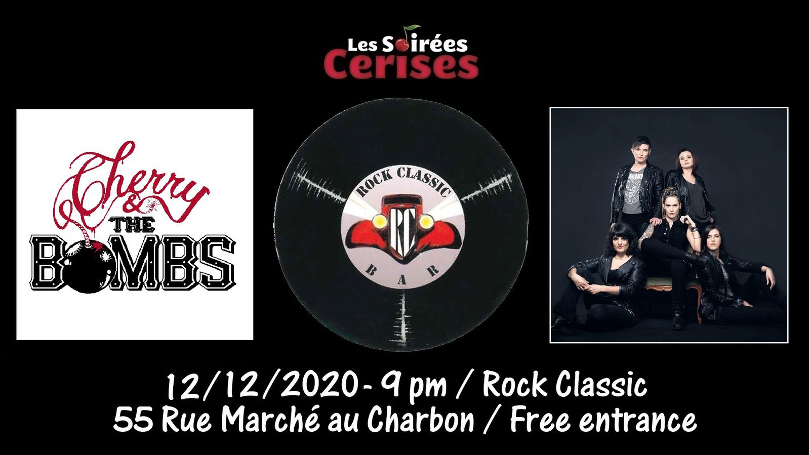🎵 Cherry & the Bombs (The Runaways tribute band) @ Rock Classic - 12/12/2020 - 21h00 - Entrée gratuite / Free entrance