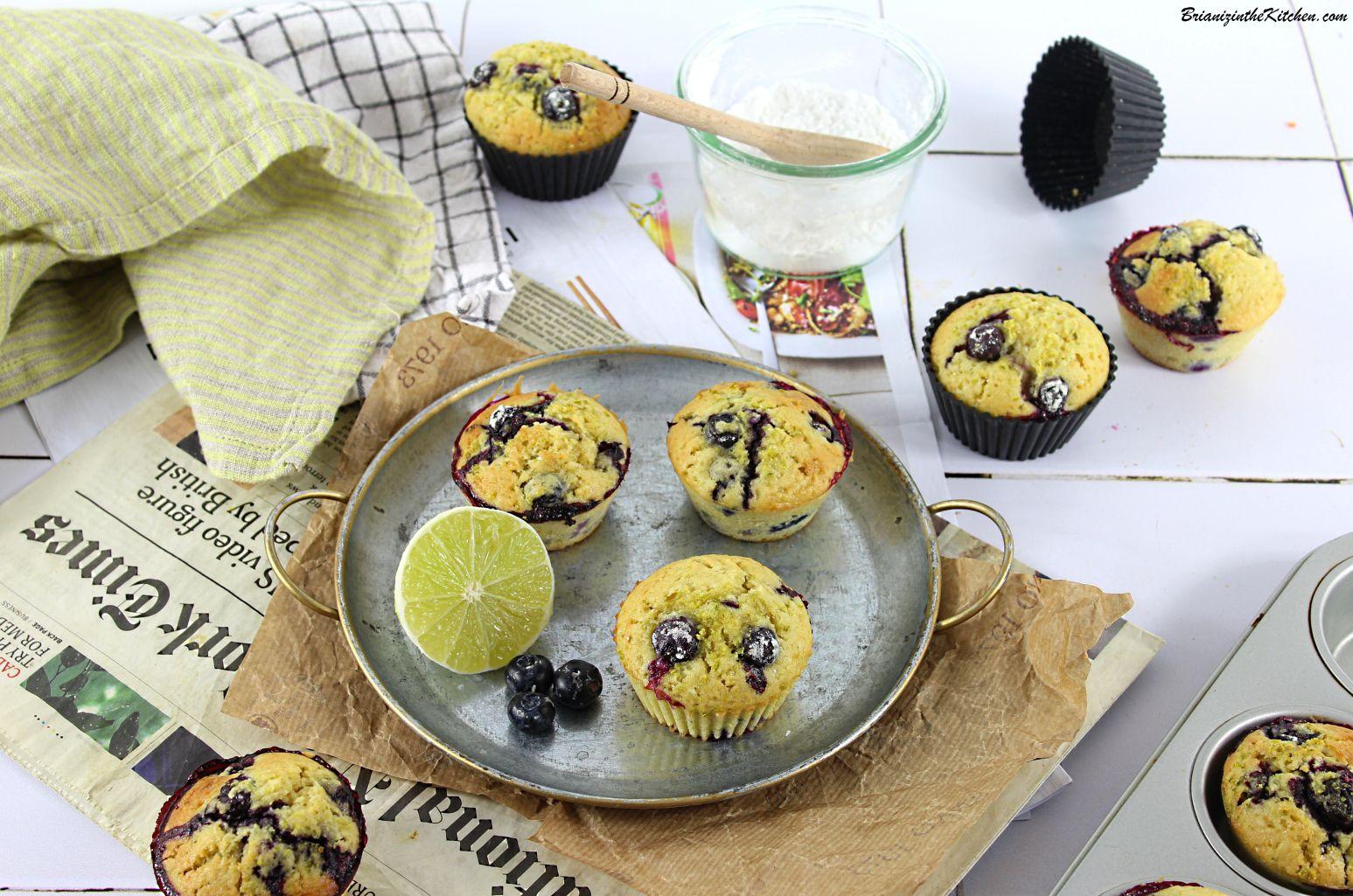 Muffins Myrtilles et Citron Vert