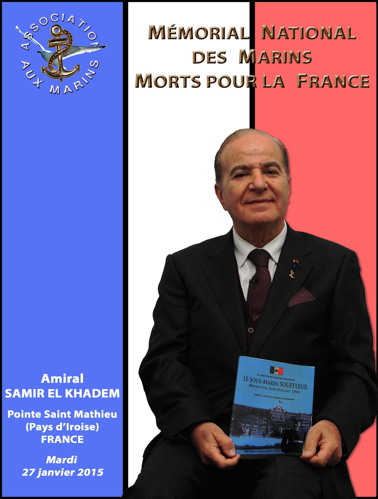 Samir El Khadem - Mémorial national des marins morts pour la France - Association Aux Marins