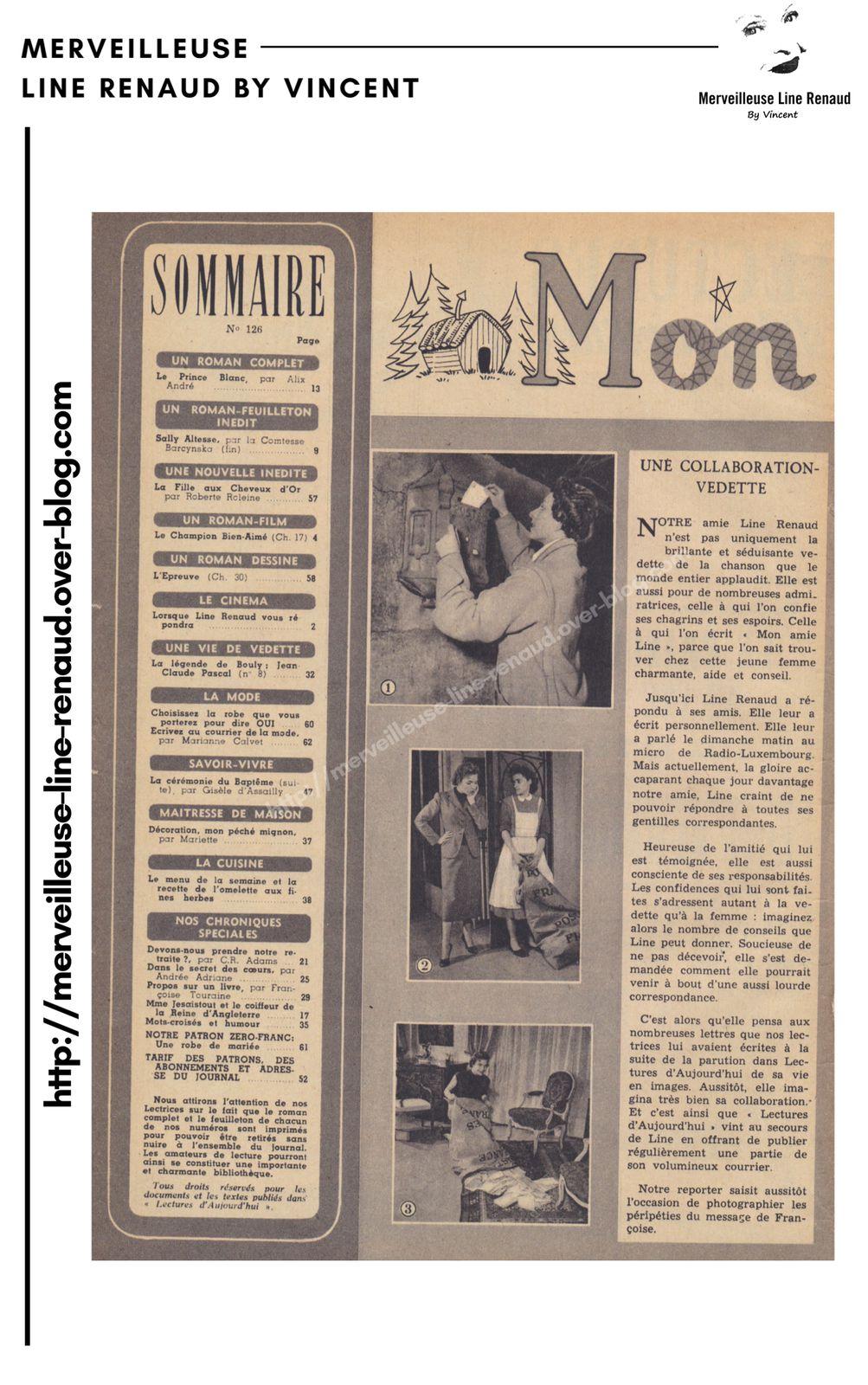 PRESSE: Lectures d'Aujourd'hui - n°128 - 29/01/1955