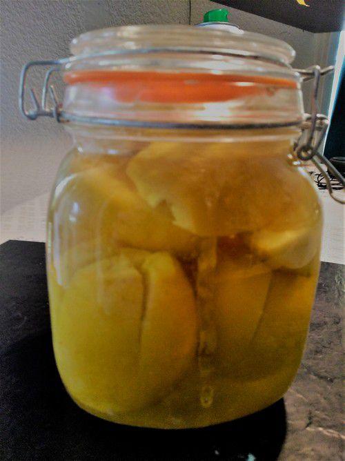 Citron confits aprés macération